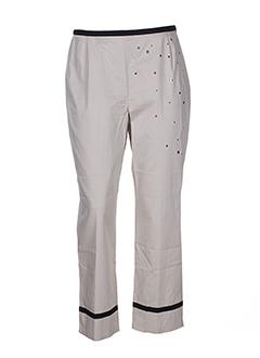 manoukian pantalons femme de couleur beige