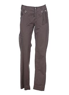 mcp pantalons femme de couleur marron