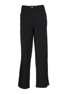 be the queen pantalons femme de couleur noir