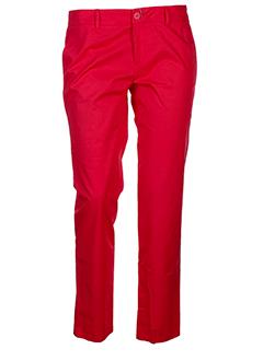 joe san pantalons femme de couleur rouge