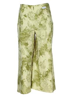 chrismas's pantacourts femme de couleur vert