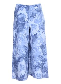 chrismas's pantacourts femme de couleur bleu