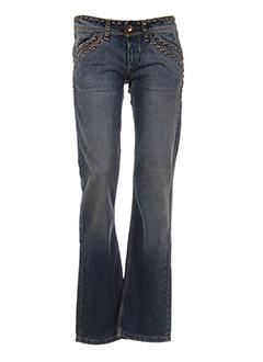 w les femmes jeans femme de couleur bleu