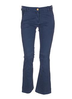 shine pantalons femme de couleur bleu