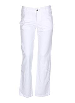 masscob pantalons femme de couleur blanc