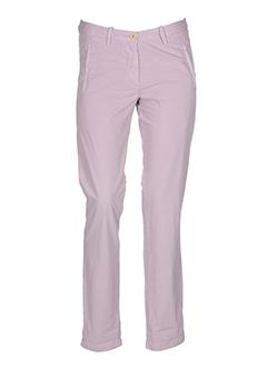 bellerose pantalons femme de couleur violet