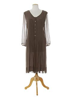 nougat robes femme de couleur marron