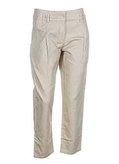 Pantalon casual beige I.CODE (By IKKS) pour femme