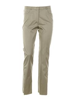 carole richard pantalons femme de couleur beige