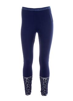 indies leggings femme de couleur bleu