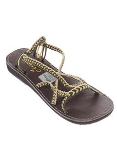 la marine chaussures fille de couleur vert