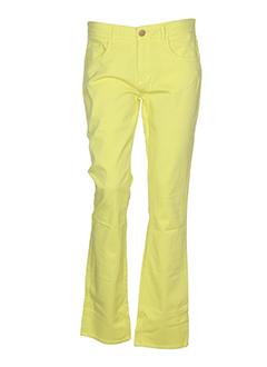 greenandpepper pantalons femme de couleur jaune
