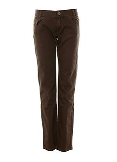 chipie jeans fille de couleur marron