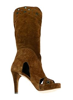 valentino et moda bottes femme de couleur marron
