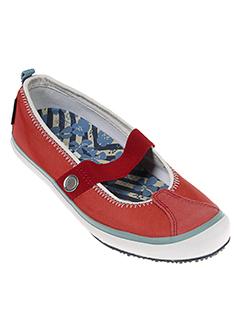 sebago chaussures femme de couleur rouge