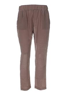max EFFI_CHAR_1 moi pantalons femme de couleur marron