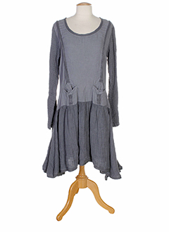 aurea et vita robes et longues femme de couleur gris