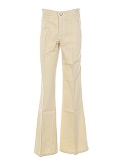cimarron pantalons fille de couleur beige