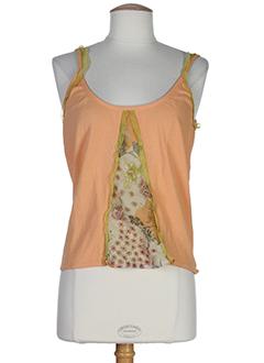 dikton's chemises femme de couleur orange