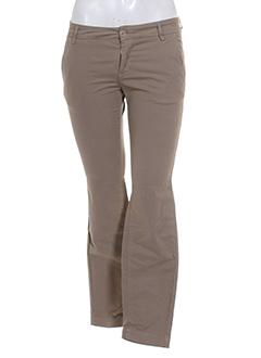 teddy smith pantalons femme de couleur marron