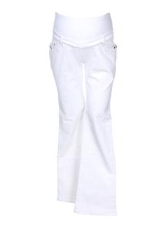 balloon jeans femme de couleur blanc