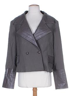 amz vestes femme de couleur gris