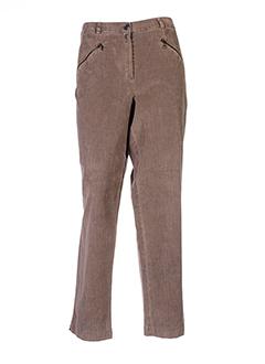 rosa rosam pantalons femme de couleur beige