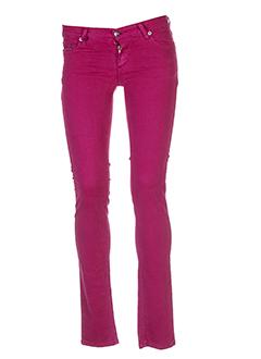 jon et kafe pantalons et decontractes femme de couleur rose