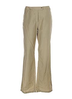 concept et k pantalons et decontractes femme de couleur beige