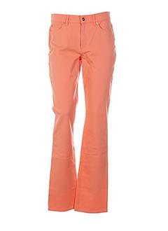 escada pantalons femme de couleur orange