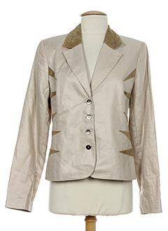 nathalie chaize vestes femme de couleur beige