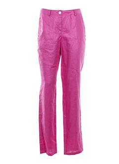 nathalie chaize pantalons femme de couleur rose