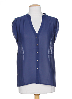 angeleye chemises femme de couleur bleu