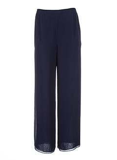 frank usher pantalons femme de couleur bleu