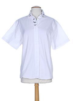 col claudine chemises femme de couleur blanc