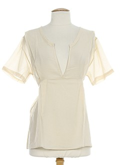 american vintage chemises femme de couleur beige