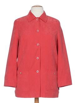 gelco manteaux femme de couleur rouge