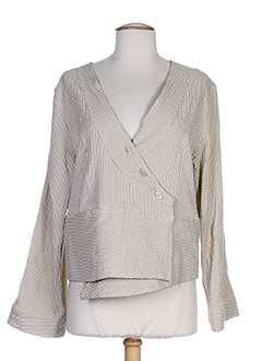 cannisse vestes femme de couleur beige