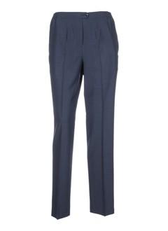 lorenzo ferreri pantalons femme de couleur bleu
