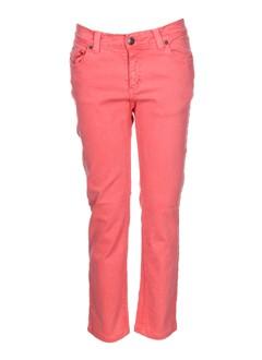 jon kafe pantalons femme de couleur rose