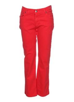 jon kafe pantalons femme de couleur rouge