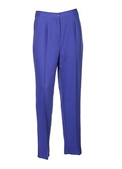 catalina et gonzalez pantalons et decontractes femme de couleur bleu