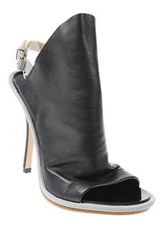 balenciaga sandales et nu et pieds femme de couleur noir