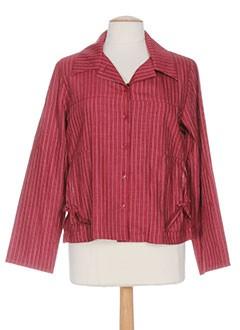 mitsouki vestes femme de couleur rouge