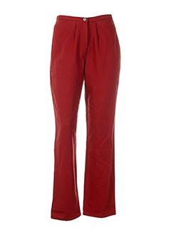 rosa rosam pantalons femme de couleur rouge