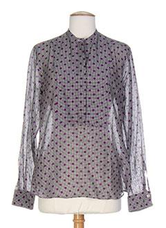caliban chemises femme de couleur violet