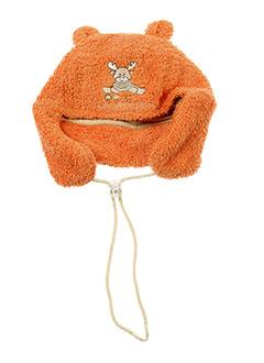 3 et pommes chapeaux et bonnets garcon de couleur orange (photo)