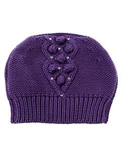 3 et pommes chapeaux et bonnets fille de couleur violet (photo)