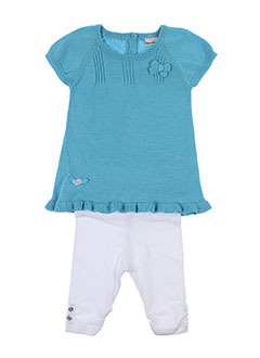 3 et pommes pull et pantalon fille de couleur bleu (photo)
