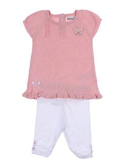 3 et pommes pull et pantalon fille de couleur rose (photo)